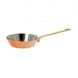 Poêle à frire INOCUIVRE avec montures laiton