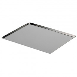 Plaque de cuisson bords pincés inox