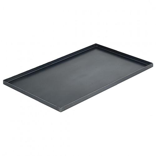 Plaque de cuisson bords droits acier