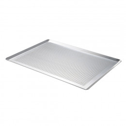 Baking tray oblique edges, perforated