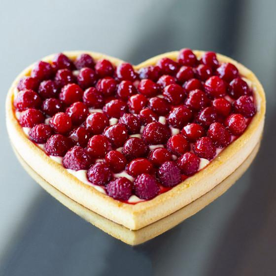 Cercle à tarte cœur VALRHONA, inox perforé Ht 2 cm