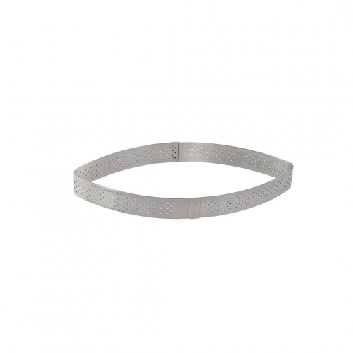 Calisson tart ring Ht 2 cm VALRHONA, perforated stainless steel