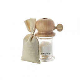 Set with corse seat salt mill and 100 g salt