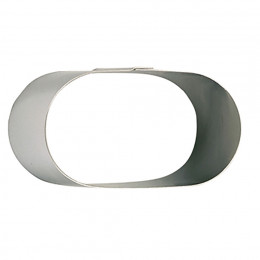 Ring, stainless steel, oblong