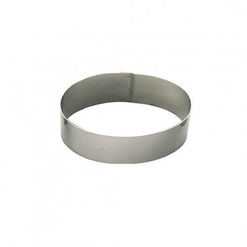 Cercle à pâtisserie inox, ovale Ht 4,5 cm