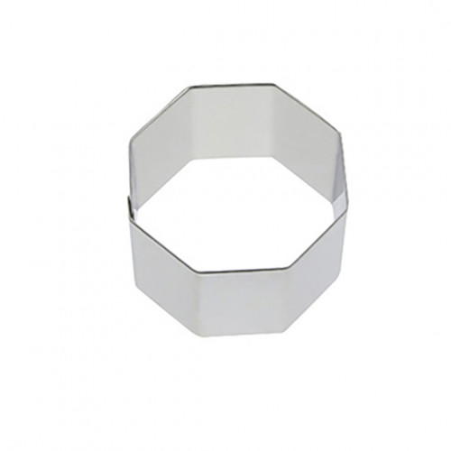 Ring, stainless steel, hexagonal Ht 4 cm