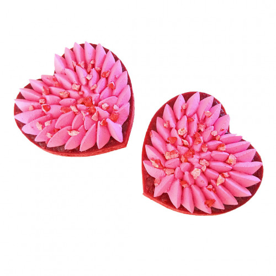 Cercle à pâtisserie inox, forme cœur Ht 4 cm