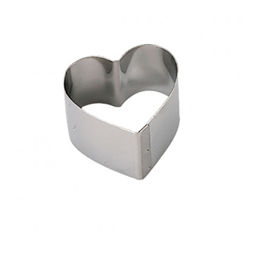 Ring, stainless steel, heart Ht 4 cm