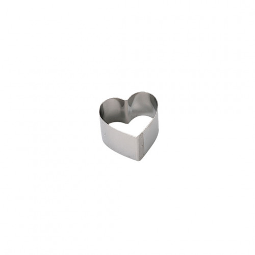 Ring, stainless steel, heart Ht 4,5 cm