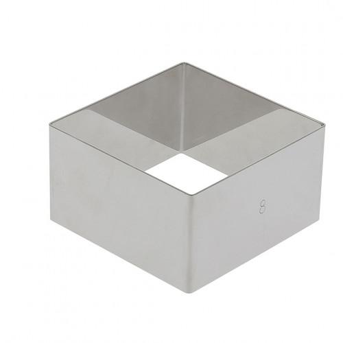 Cercle à entrements carré inox Ht4,5cm