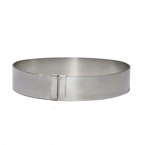 Expandable graduated ring ø 18 to 36 cm , stainless steel