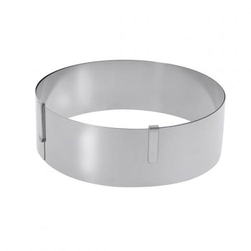 Cercle gradué extensible inox, ø 18 à 36 cm