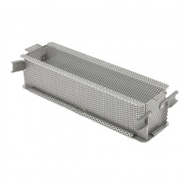 Rectangular foldable long baking mould GEOFORME, perforated stainless steel