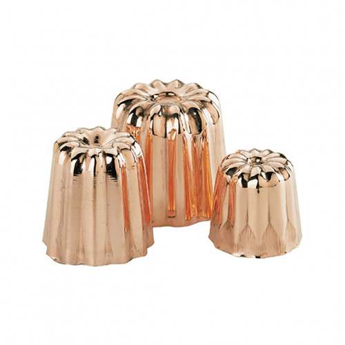 Fluted mould Canelés Bordelais, copper