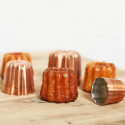 Fluted mould Canelés Bordelais, copper