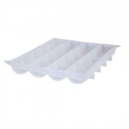Tray 4 round long mould MOUL FLEX PRO, transparent silicone