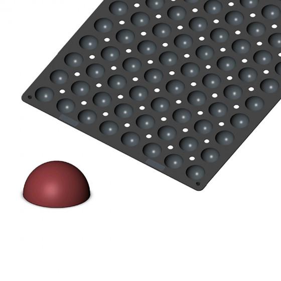 Plaque 96 mini demi-sphères MOUL FLEX PRO, silicone