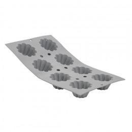 Tray 8 small brioches ELASTOMOULE, silicone foam
