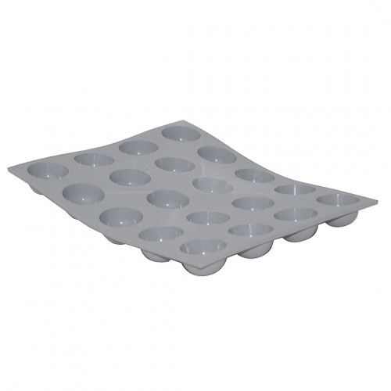 Plaque mini demi-sphères ELASTOMOULE, mousse de silicone