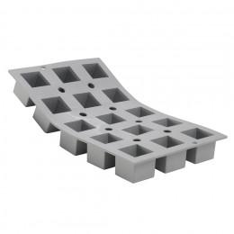 Plaque 15 petits cubes 3,5cm ELASTOMOULE, mousse de silicone