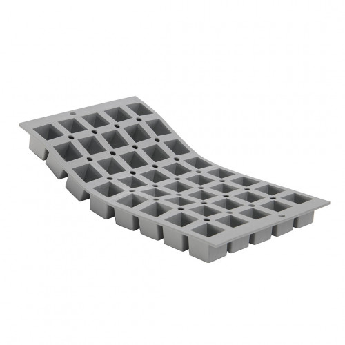 Plaque 40 mini cubes 2,5cm ELASTOMOULE, mousse de silicone