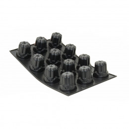 """Tray 12 fluted moulds """"Tradition 1900"""" MOUL FLEX, silicone"""