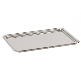 Plateau pâtissier bords ronds, inox