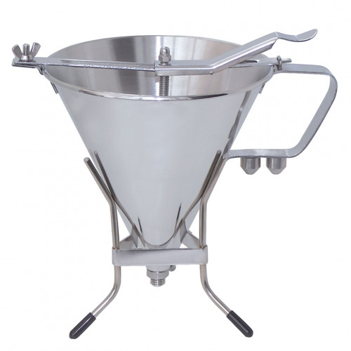 Piston funnel 1,9 L. KWIK PRO, stainless steel