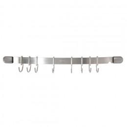 Hanging bar 8 hooks, stainless steel