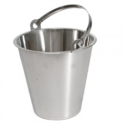 Bucket, stainless steel