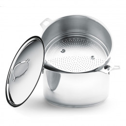 Steamcooker colander TWISTY, stainless steel