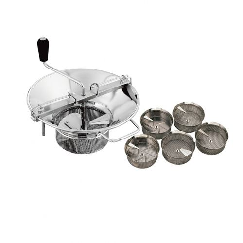 Food mill and sieves, stainless steel