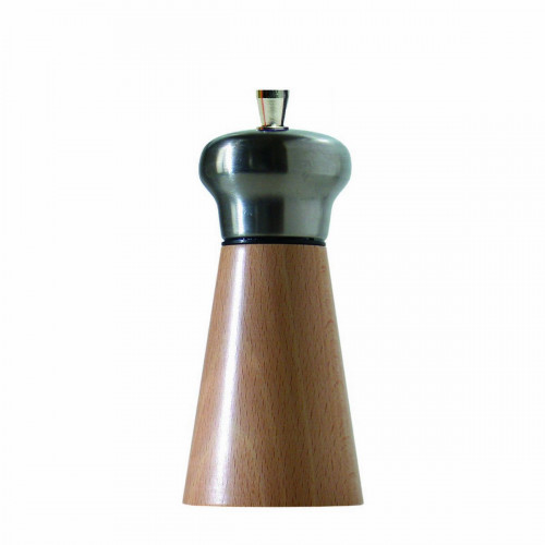 Salt mill wood and stainless steel 13 cm SPRINGAR