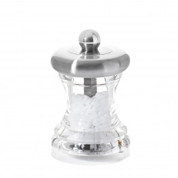 Salt mill stainless steel and transparent acrylic 7 cm VOLTE