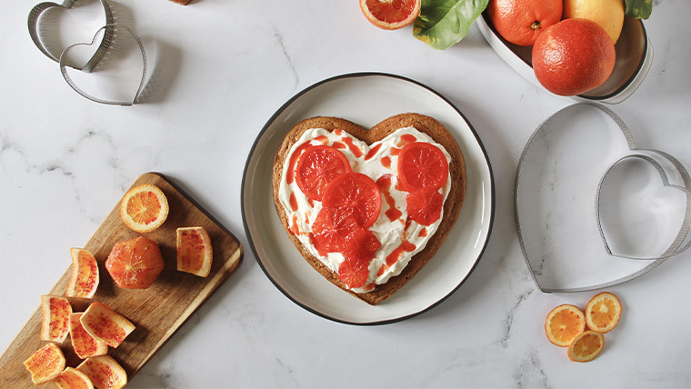 Gâteau noix et oranges sanguines